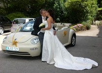 New VW Beetle Cabriolet wedding car