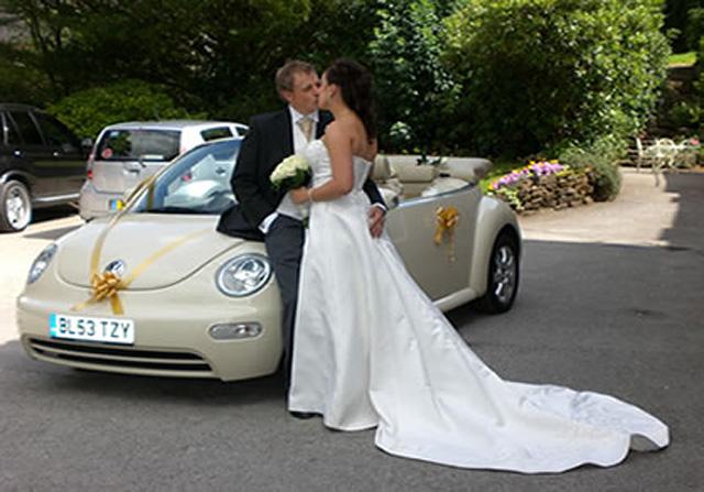 New VW Beetle Cabriolet wedding car