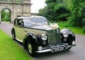 ivory bentley tour vintage wedding car